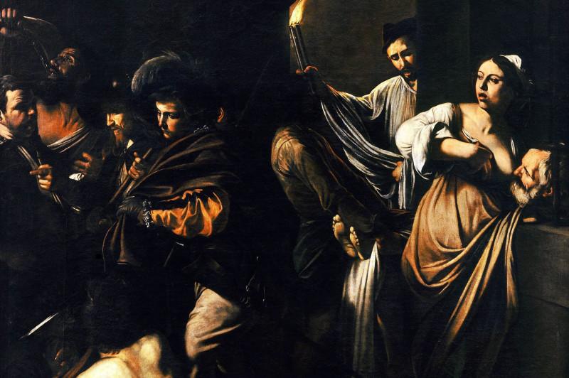 Sette opere di Misericordia, particolare - Caravaggio (Napoli)